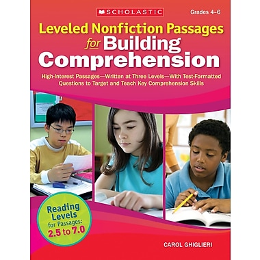 Scholastic Leveled Nonfiction Passages for Building Comprehension