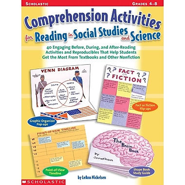 Scholastic Comprehension Activities for Reading in Social Studies and Science