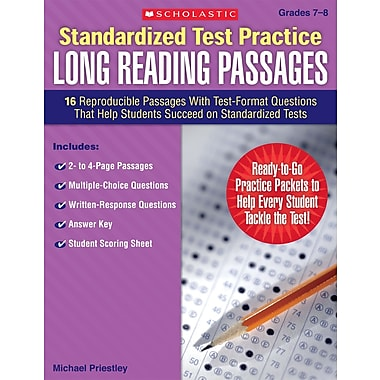 Scholastic Reading, Standardized Test Practice: Long Reading Passages: Grades 5-6
