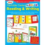 Scholastic Mini File-Folder Centers in Color: Reading & Writing (K-1)