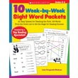 Scholastic 10 Week-by-Week Sight Word Packets