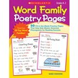 Scholastic Word Family Poetry Pages