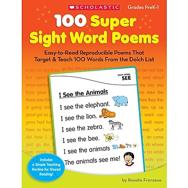 Scholastic 100 Super Sight Word Poems
