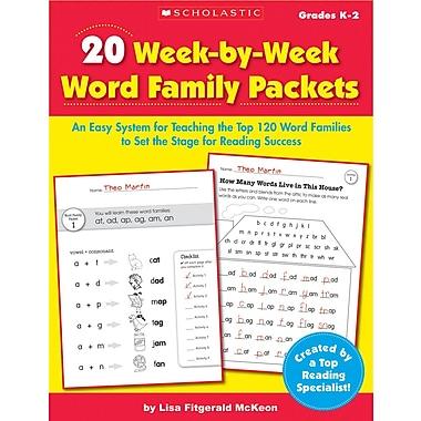 Scholastic 20 Week-by-Week Word Family Packets