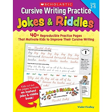 Scholastic Cursive Writing Practice: Jokes & Riddles