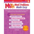 Scholastic Math Word Problems Made Easy: Grade 3