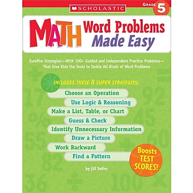 Scholastic Math Word Problems Made Easy: Grade 5