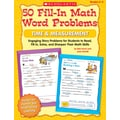 Scholastic 50 Fill-in Math Word Problems: Time & Measurement