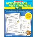 Scholastic Activities for Fast Finishers: Math