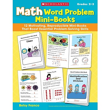 Scholastic Math Word Problem Mini-Books