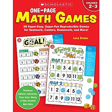 Scholastic One-Page Math Games