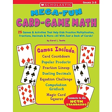 Scholastic Mega-Fun Card-Game Math