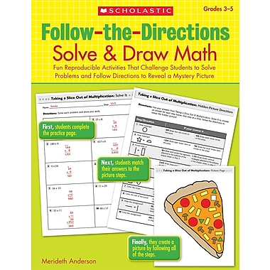 Scholastic Follow-the-Directions: Solve & Draw Math (3-5)