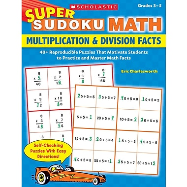 Scholastic Super Sudoku Math: Multiplication & Division Facts