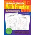 Scholastic Solve & Match Math Practice Pages: Grades 4–6