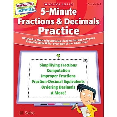 Scholastic 5-Minute Fractions & Decimals Practice