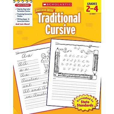 Scholastic Success with Traditional Manuscript (Grades K–1)