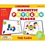 Scholastic The Farm Magnetic Pattern Blocks