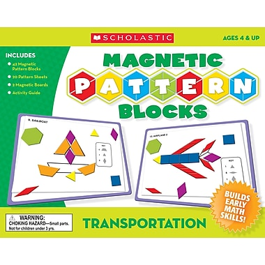 Scholastic Transportation Magnetic Pattern Blocks