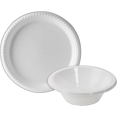 Staples® Plastic Plates and Bowls