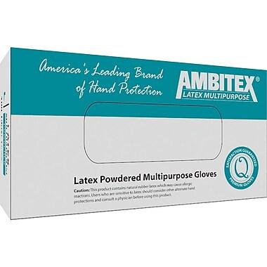 Ambitex Disposable Gloves, Nitrile, Medium, Blue, Powder-Free, 1,000/Carton