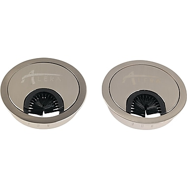 Alera® Valencia Metal Optional Grommet, 5/8in.H x 2 3/4in.W x 2 3/4in.D, Silver