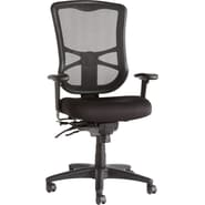 Alera® Elusion Mesh High Back Multifunction Polyester Chair, Black