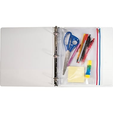 Angler's Zip-All Ring Binder Pocket, Clear, 11in.(H) x 8 1/2in.(W)