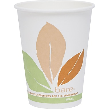 Solo® Bare™ Eco-Forward™ Compostable PLA Paper Hot Cup, 12 oz., 300/Carton