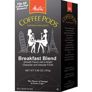 Melitta® One:One Coffee Pods, Breakfast Blend (Light Roast), 0.3 oz, 18/Box (75421)
