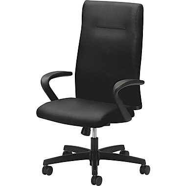 HON® Ignition™ Executive High Back Polyester Chair, Black