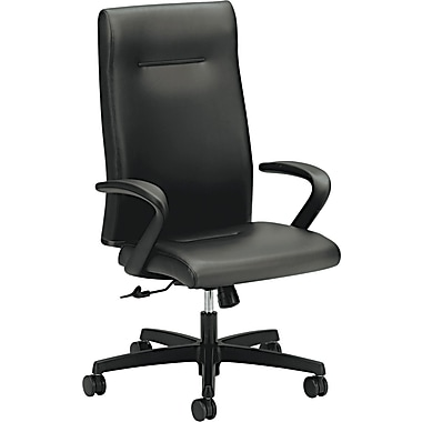 HON® Ignition™ High-Back Black Leather Executive Chair