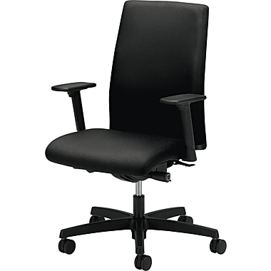 HON ® Ignition 100% Polyester Mid Back Work Chair, Black