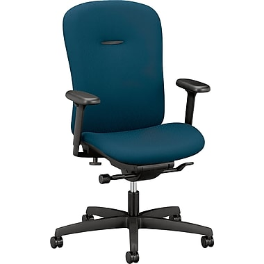 HON ® Mirus Mid-Back Fabric Swivel/Tilt Chair, Blue