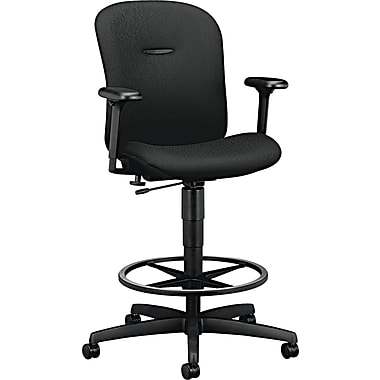 HON ® Mirus Ergonomic Fabric Task Stool, Black