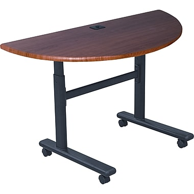 Balt 48in. Half-Round Flipper Training Table, Cherry