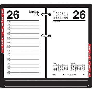 "2014 AT-A-GLANCE® Desk Calendar Refill with Tabs, 3 1/2"" x 6"""