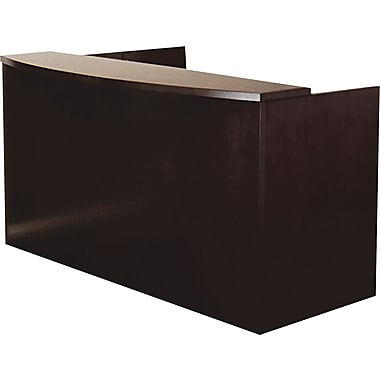 Mayline® Mira Series Wood Veneer Reception Desk Shell, 43 1/2in. H x 72in. W x 36in. D, Espresso