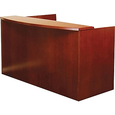 Mayline® Mira Series Wood Veneer Reception Desk Shell, 43 1/2in. H x 72in. W x 36in. D