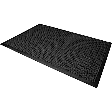 Guardian WaterGuard Polypropylene Indoor/Outdoor Scraper Mat, 72in.L x 48in.W, Charcoal