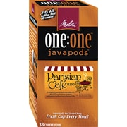 Melitta® One:One Coffee Pods, Parisian Cafe (Dark Roast), 0.3 oz, 18/Box (75424)
