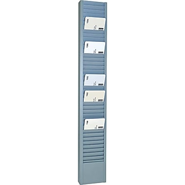 SteelMaster® 40 Pocket Steel Swipe Card/Badge Rack, 18 11/16in.(H) x 2 15/16in.(W) x 1in.(D)