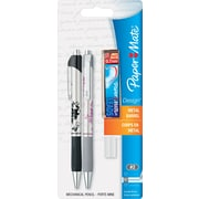 Paper Mate® Mechanical Pencil, HB-Soft, 0.7 mm (Dia), No. 2 Lead, SS/Pink/Black Floral Barrel, 2/Set