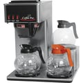 Coffee Pro® 3 Burner Low Profile Institutional Coffee Brewer, Stainless Steel