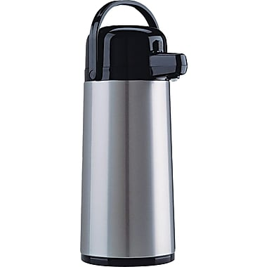 Coffee Pro Direct Brew Insulated Airpot with Carry Handle, 2.2 Liters, Stainless Steel