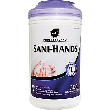 Nice Pak Professional Sani-Hands II Sanitizing Wipe, 300 Wipes