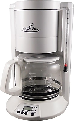 Coffee Pro 12 Cup Home/Office Coffee Brewer, White OGFCP330W