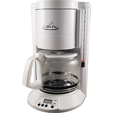 Coffee Pro® 12 Cup Home/Office Coffee Brewer, White