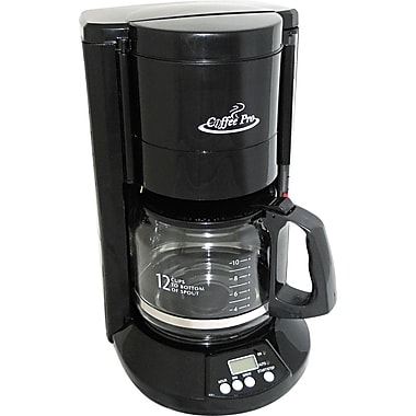 Coffee Pro® 12 Cup Home/Office Coffee Brewer, Black