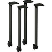 HON® Huddle™ Series Post Leg Table Base, Charcoal